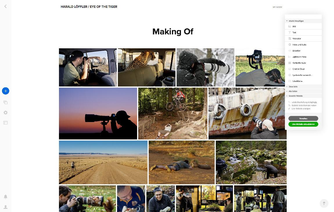 WS Adobe PF 02 - Foto-Webseiten mit Adobe Portfolio erstellen