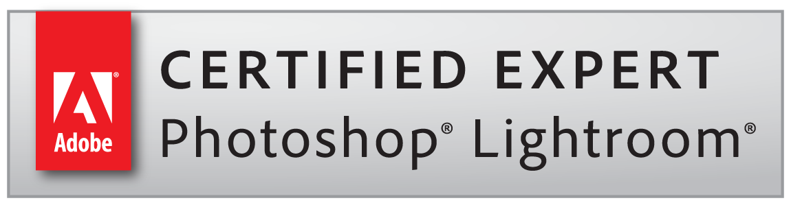 Certified Expert Photoshop Lightroom badge - Über mich