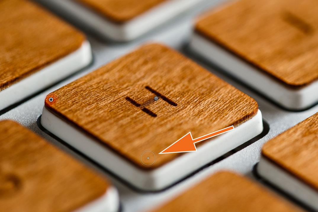 """LTM002 1 03 Plus Pinsel 1. Click - Lightroom-Tipp #2: """"Gerade Linien mit Shift"""""""