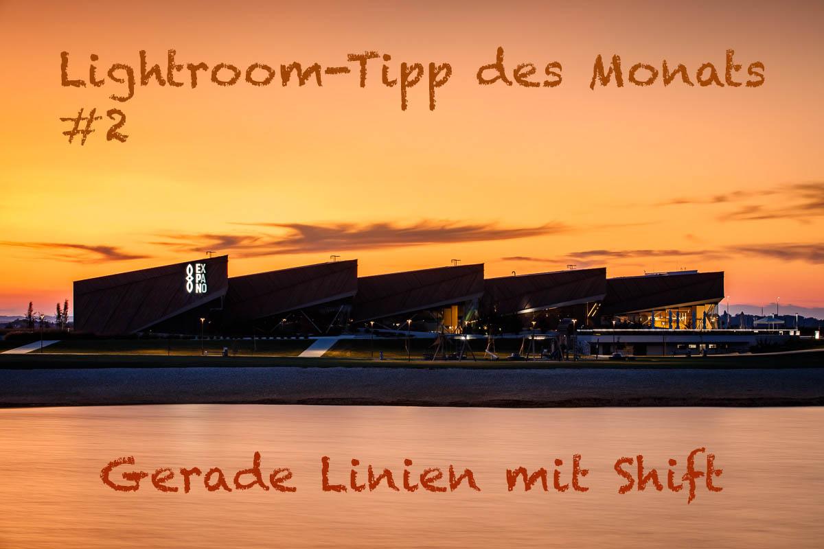 """LTM002 Header - Lightroom-Tipp #2: """"Gerade Linien mit Shift"""""""