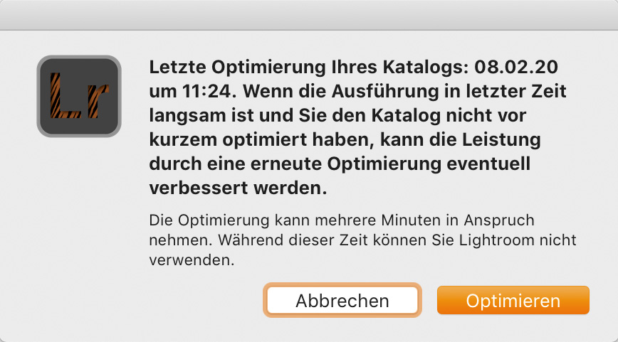 "LTM003 07 Katalog Optimierung 2 - Lightroom-Tiger-Tipp #3: ""Performance-Tuning"""