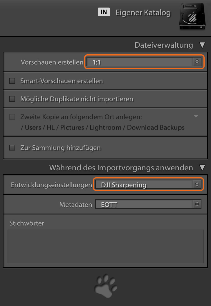 "LTM003 10 Import 1zu1 und Preset - Lightroom-Tiger-Tipp #3: ""Performance-Tuning"""